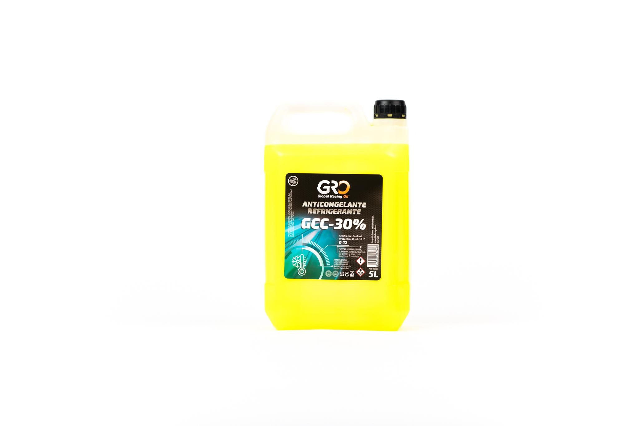 gro anticongelante-refrigerante gcc-30� amarillo 5l