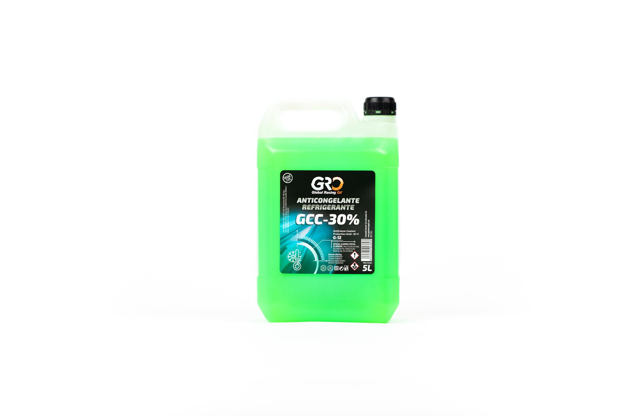 gro anticongelante-refrigerante gcc-30� verde 5l